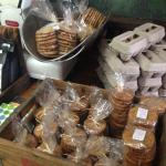 A variety of home baked biscuits for sale