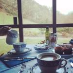 Desayuno de diez con unas vistas preciosas.