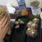wrap hummus sushi
