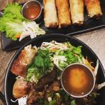 Pork Spring Rolls and Pork Noodle Bowl