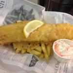 Fish and chips in our light crisp batter