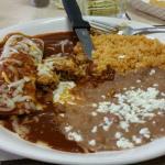 Tamale & enchilada plate