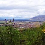 Vista del anchuroso valle del Mantaro desde las alturas de Jauja