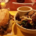 Horseradish Beef Baguette with Cranberry Orange Salad at Baker's Square North Olmsted