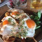 Картошка с яичницей