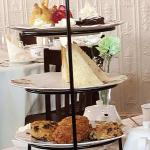 Tea time elegance - a 3 tier serving of yumminess served with your tea of choice!