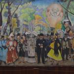 Just two minutes walk away is the Diego Rivera museum which house his enormous mural of the Alme