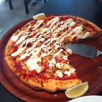 the Peri Peri chicken pizza we had