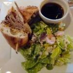 French dip with house salad
