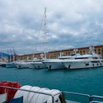 Incredible, boat trip the marina of Genoa, where you can see varieties of large luxury yachts. T