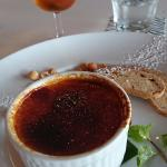 Creme Brulee (with dessert wine too)