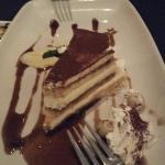Tiramisu (the English pudding I mentioned is on the upper left of the plate)