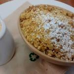 hot pudding - vegan crumble