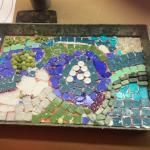 Mosaic Tray in process