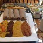 Special Lunch (4 vegetables) with Injera