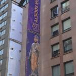 Banner on Museum Street front