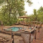 Pool area at Linyanti Ebony Bush Camp