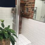 Shared bathroom downstairs - clean and spacious