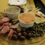 A starter to share: Maltese platter (cold meats & dips etc)
