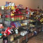 Mini store with Brazilian food