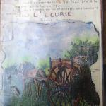 The history of L'Ecurie, provided on the Menu cards