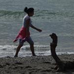 Beach goers. (Two)