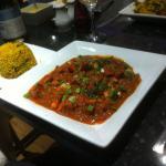 Jaflong Spicy Chicken with Mushroom Pilau Rice.
