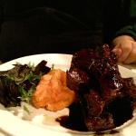 Spare Ribs with Butternut Squash and Greens