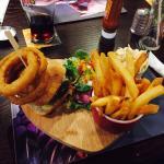 Beautiful food! (Bacon cheese burger)