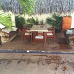 Zona exterior y piscina