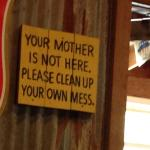 Sign posted at Rudy's