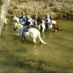 Our guide Jessie let each one of know how each horse reacts to water, good info!