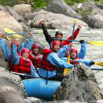 Happy Group Rafting