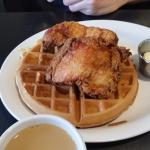 waffles and fried chicken