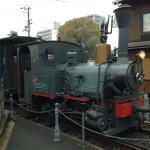 可愛い坊ちゃん列車が見られます。