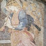 The Angel Mosaic on the front of the hotel