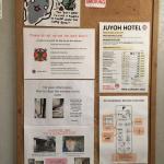 Information board in the elevator