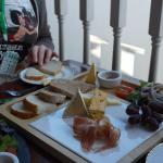 A cheese platter at XLII
