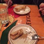 Free dessert: fried banana taquito