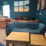 Six sofa chill area and menu