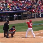 Bryce Harper at bat