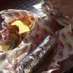 Burritos with nachos