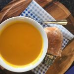 Soup of the day. Sweet potato and cumin.