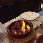 Flaming Chorizo, tasted so good! Ideal for two to share.