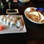 Shrimp Tacos & California Rolls... together
