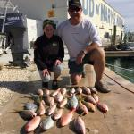A great day of fishing on Warbird with Captain Shannon