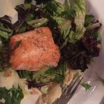 Chickory salad with side of Salmon