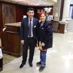 Recepción del hotel con el Sr, Ugur Keles.