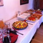 A typical Spanish buffet prepared by Angie plus Sangria at a very competitive price