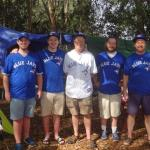 The Wegman Clan at our campsite just before the Blue Jay Game